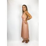 Vestido Midi Poa Rosa