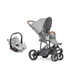 Carrinho Merano 4 System Trio (com Shopping Bag e bebê conforto) ABC Design - Woven Grey