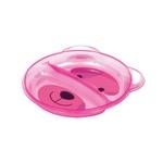 Prato Buba Ursinho Com Divisória - Rosa