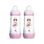 Kit Mamadeira Easy Start First Bottle Girls 320Ml - Rosa
