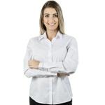 Blusa Branca Social Manga Longa Peace Top