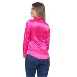 Blusa de Cetim Rosa Pink C/ Elastano Eléonore