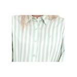 Blusa Listrada Verde e Branco Manga Longa Sicília