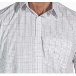 Camisa Branca Xadrez Social Manga Longa Masculina Leon