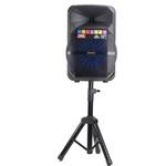 Caixa De Som Amplificada Xc-512 Polyvox Bluetooth Usb 300W com Pedestal Tripé Incluso