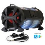 Caixa De Som Amplificada Bazuka Xb-650 Polyvox 200w + Microfone com fio