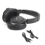 Fone de Ouvido Bluetooth Sem Fio Polyvox XH-1029 Preto Dobrável Wireless com Case/Estojo