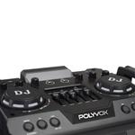 Caixa de Som Bluetooth Torre TWS Polyvox XT1200 com Controle Remoto e Mesa Equalizadora