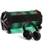 Caixa de som Bluetooth Bazuka XB860 Polyvox 480wRadio FM LED + Fone de Ouvido Bluetooth Polyvox
