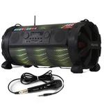 Caixa de som Bluetooth Bazuka XB860 Polyvox 480w+ Microfone com fio