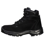 Bota Cano Curto Nobuck Adventure Preto Force Militar.
