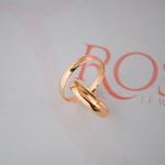 Aliança de Ouro 18k 3mm 6 gramas Modelo Sofia