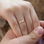 Aliança de Ouro 18k 3mm 2,5 gramas Abaulada Tradicional