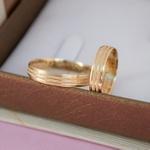 Aliança de Ouro 18k 4mm 4 gramas Modelo Galês