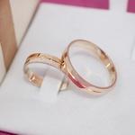 Par Aliança de Casamento 4mm 5 gramas Ouro Amarelo e Ouro Branco Modelo Mister
