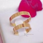 Aliança de Ouro 18k 4mm 4 gramas Reta Modelo Bahamas