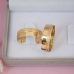 Aliança de Ouro 18K 6mm 6 gramas Modelo Grécia
