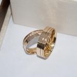 Alianças de Ouro 18K 6mm 7 gramas Modelo Charlote