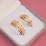Aliança Ouro 18k 6mm 7 gramas Diamantada Modelo Italia