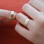 Aliança de Ouro 18K 6mm 7 Gramas Modelo Guardian Crystal