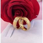 Combo Aliança de Ouro 18k 6mm 7 gramas Modelo Irlanda e Anel Solitário Mon Amour