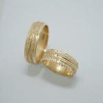 Aliança de Ouro 18K 6mm 8 Gramas Diamantada Modelo Alteza