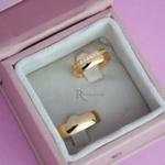 Aliança de Ouro 18K 6mm 8 Gramas Modelo Moana