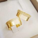 Aliança de Ouro 18k 8mm 10 gramas Modelo Grande Grécia