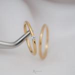 Alianças Ouro 18k 1,5mm 4g redondo Modelo Ariel