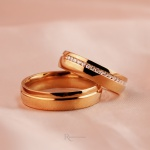Alianças Ouro 18k 5mm 7 gramas Cravação Modelo Cinderela