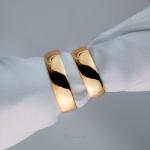 Alianças Ouro 18k 6mm 12 gramas Anatômica Classic