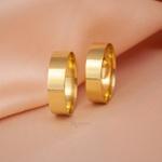 Aliança de Ouro 18k 5mm 5 gramas Modelo Coimbra