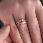 Combo Alianças Ouro Rosé 18k 3mm 3 gramas Fiora e Elanor