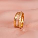 Alianças Ouro 18k 3mm 4 gramas Modelo Escamas