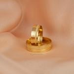 Aliança de Ouro 18K 6mm 6 gramas Modelo França