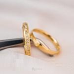 Aliança de ouro 18k 3mm 4 Gramas Chanfrada Helena