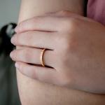Alianças Ouro 18k 2mm 4 gramas Modelo July