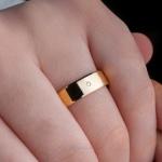 Aliança em Ouro 18k 5mm 5 gramas Chanfrada Modelo Lucy