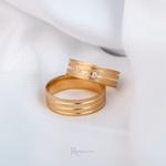 Aliança de ouro 18k 6mm 7 gramas Modelo Primavera