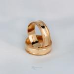 Aliança de Ouro 18K 6mm 6 gramas Modelo Sparta