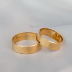 Alianças Ouro 18k 6mm 7 gramas Chanfrada Lucy