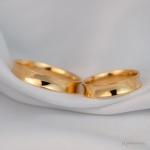 Alianças em Ouro 18k 4mm 5 gramas Côncava Modelo Toledo