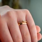 Alianças em Ouro 18k 3mm 4 grams Viena e Saron