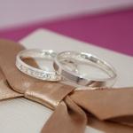 Par de aliança de prata 3mm Chanfrada modelo Donzela