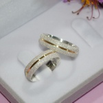 Aliança de Compromisso 5mm Prata 950 Filete Dourado
