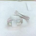 Aliança de Compromisso 5mm Prata 950 Modelo Shine
