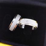 Aliança de Compromisso 6mm 10g Diamantada e Filetes de Ouro 18k Modelo Eternal