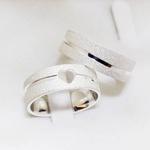 Aliança de Compromisso 6mm 10g Diamantada Modelo One Soul