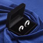 Aliança de compromisso Prata 950 6mm Diamantada Modelo Storm
