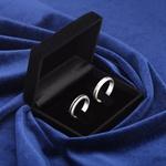 Aliança de Compromisso 4mm Prata Zircônias Negra Modelo Shadow